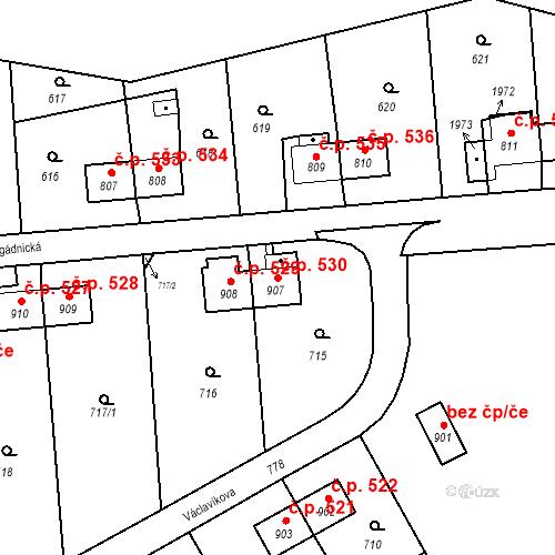 Katastrální mapa Stavební objekt Heřmanice 530, Ostrava