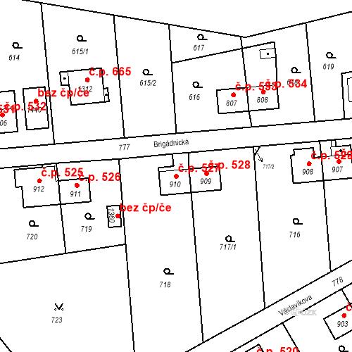 Katastrální mapa Stavební objekt Heřmanice 527, Ostrava