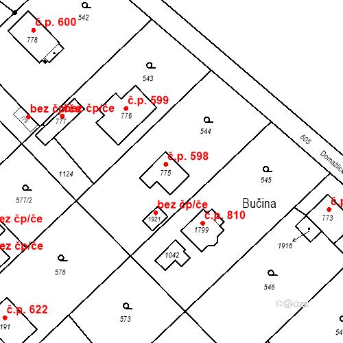 Katastrální mapa Stavební objekt Heřmanice 598, Ostrava