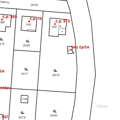 Katastrální mapa Stavební objekt Heřmanice 672, Ostrava