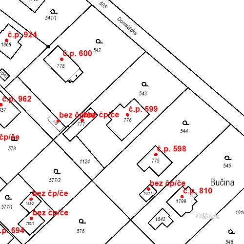 Katastrální mapa Stavební objekt Heřmanice 599, Ostrava