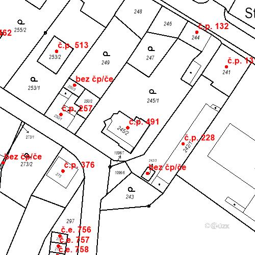 Katastrální mapa Stavební objekt Starý Bohumín 491, Bohumín