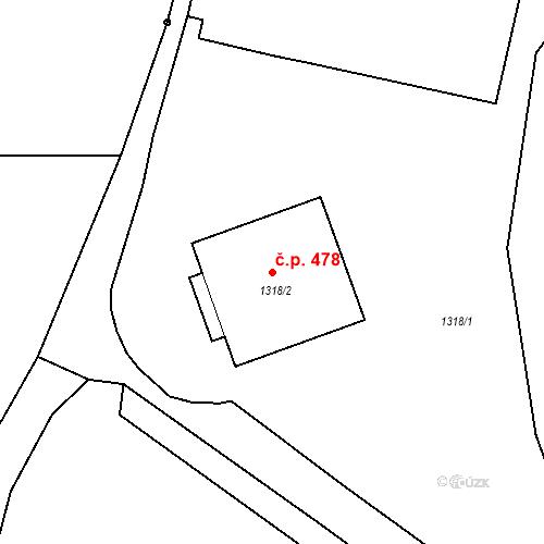 Katastrální mapa Stavební objekt Starý Bohumín 478, Bohumín