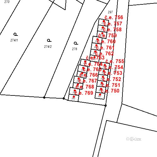 Katastrální mapa Stavební objekt Starý Bohumín 766, Bohumín