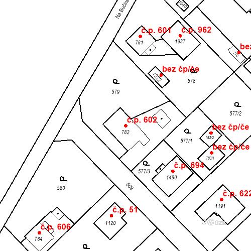 Katastrální mapa Stavební objekt Heřmanice 602, Ostrava