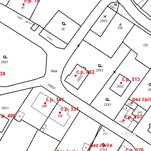 Katastrální mapa Stavební objekt Starý Bohumín 462, Bohumín
