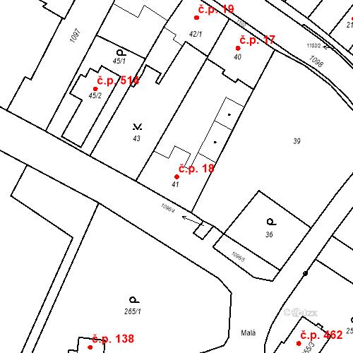 Katastrální mapa Stavební objekt Starý Bohumín 18, Bohumín