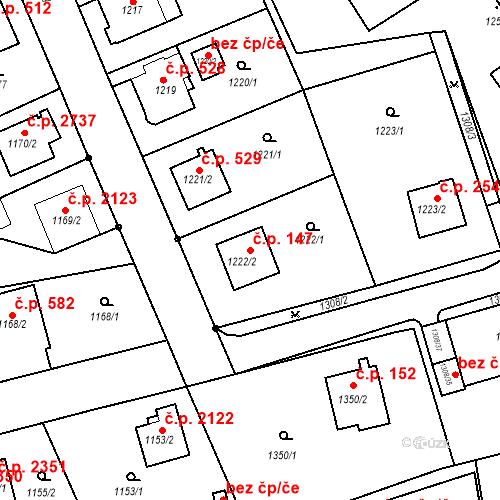 Katastrální mapa Stavební objekt Frýdek 147, Frýdek-Místek
