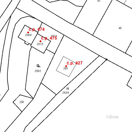 Katastrální mapa Stavební objekt Starý Bohumín 427, Bohumín