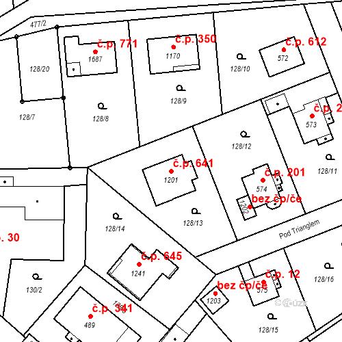 Katastrální mapa Stavební objekt Heřmanice 641, Ostrava