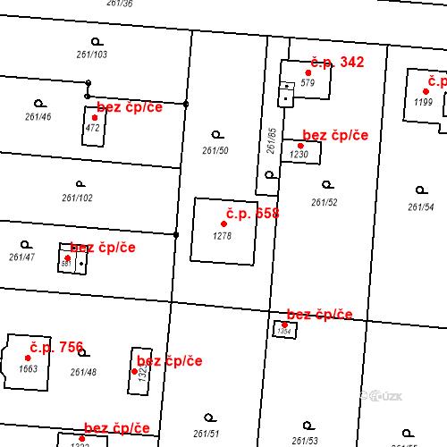 Katastrální mapa Stavební objekt Heřmanice 658, Ostrava