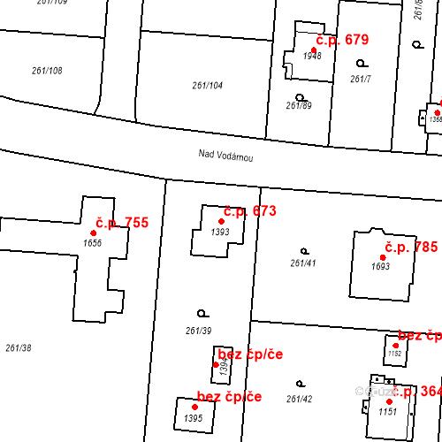 Katastrální mapa Stavební objekt Heřmanice 673, Ostrava