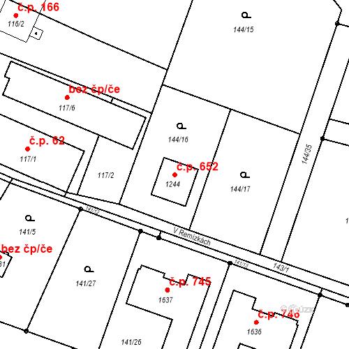 Katastrální mapa Stavební objekt Heřmanice 652, Ostrava