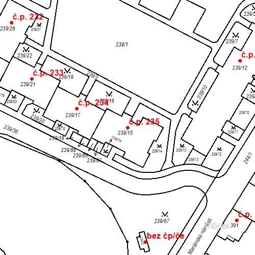 Katastrální mapa Stavební objekt Frýdek 235, Frýdek-Místek