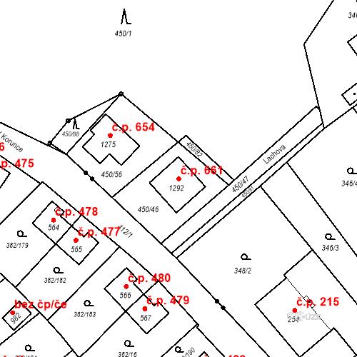 Katastrální mapa Stavební objekt Heřmanice 661, Ostrava