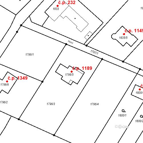 Katastrální mapa Stavební objekt Vratimov 1189, Vratimov