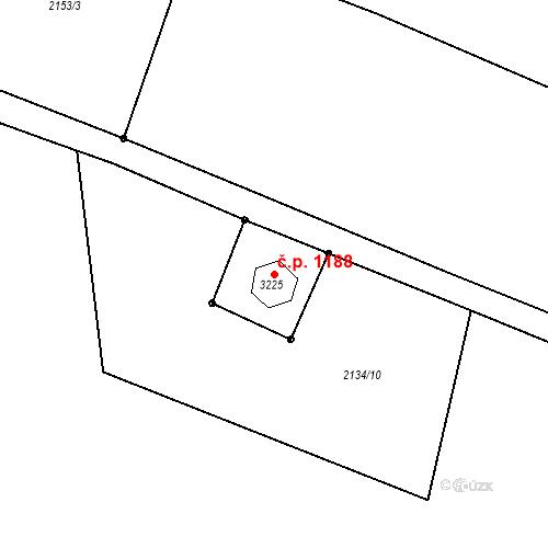 Katastrální mapa Stavební objekt Vratimov 1188, Vratimov