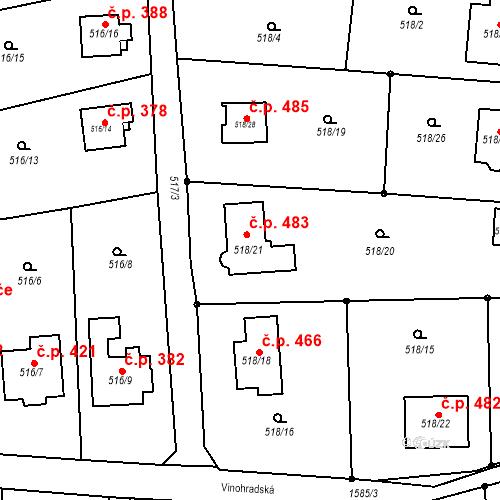 Katastrální mapa Stavební objekt Řepiště 483, Řepiště