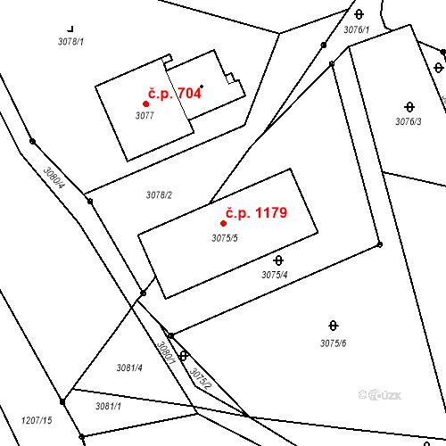 Katastrální mapa Stavební objekt Vratimov 1179, Vratimov
