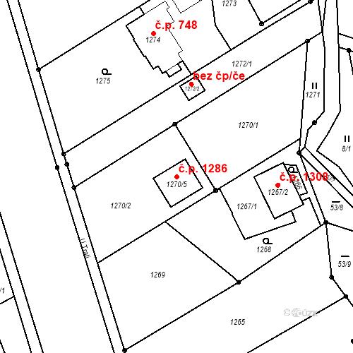 Katastrální mapa Stavební objekt Vratimov 1286, Vratimov