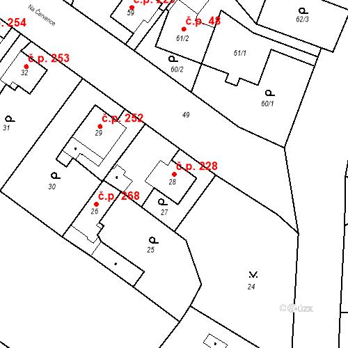 Katastrální mapa Stavební objekt Kunčice 228, Ostrava