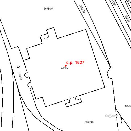 Katastrální mapa Stavební objekt Moravská Ostrava 1627, Ostrava