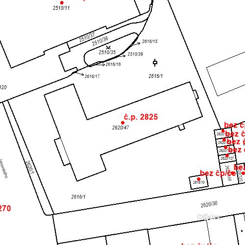 Katastrální mapa Stavební objekt Moravská Ostrava 2825, Ostrava