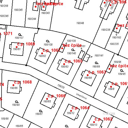 Katastrální mapa Stavební objekt Vítkovice 1065, Ostrava