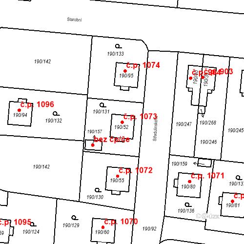 Katastrální mapa Stavební objekt Vítkovice 1073, Ostrava