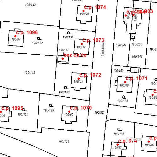 Katastrální mapa Stavební objekt Vítkovice 1072, Ostrava