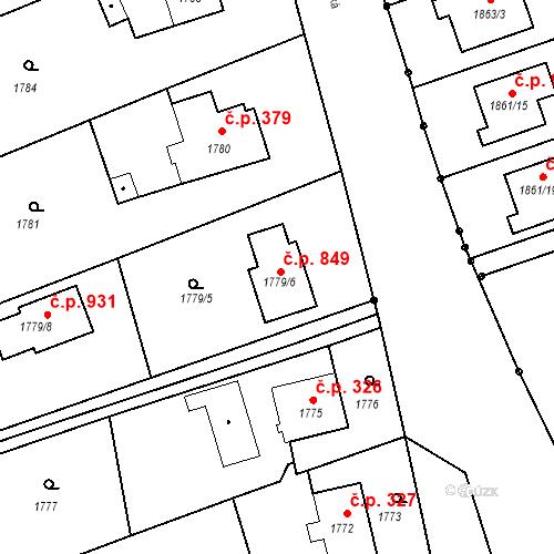 Katastrální mapa Stavební objekt Paskov 849, Paskov