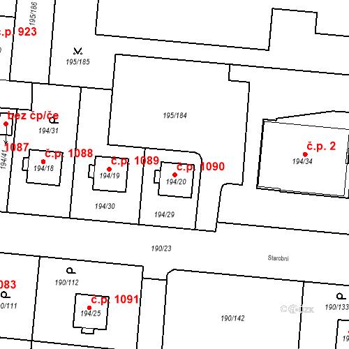 Katastrální mapa Stavební objekt Vítkovice 1090, Ostrava