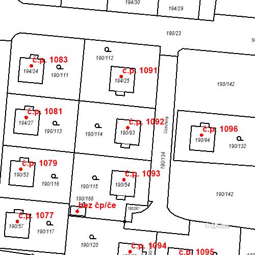 Katastrální mapa Stavební objekt Vítkovice 1092, Ostrava
