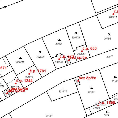 Katastrální mapa Stavební objekt Moravská Ostrava 573, Ostrava