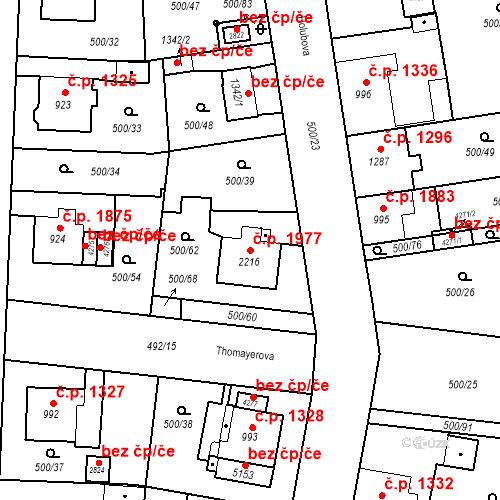 Katastrální mapa Stavební objekt Vítkovice 1977, Ostrava