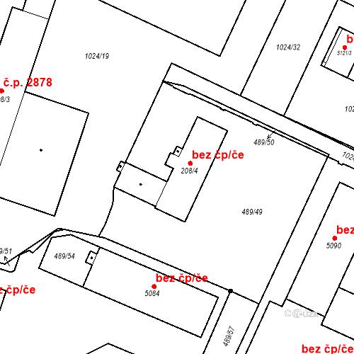 Katastrální mapa Stavební objekt Vítkovice 2870, Ostrava