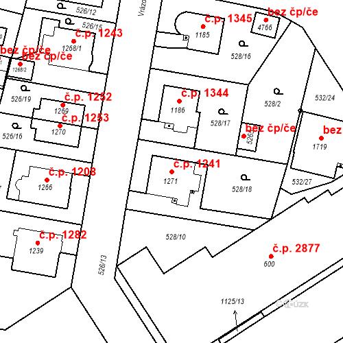 Katastrální mapa Stavební objekt Vítkovice 1241, Ostrava