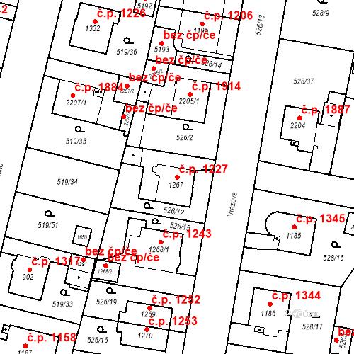 Katastrální mapa Stavební objekt Vítkovice 1227, Ostrava