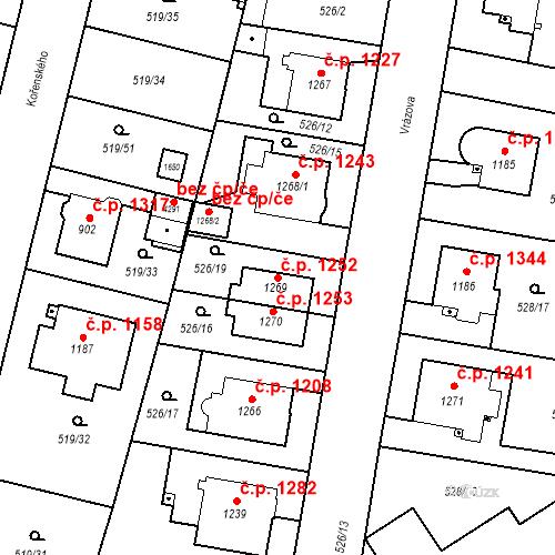 Katastrální mapa Stavební objekt Vítkovice 1252, Ostrava