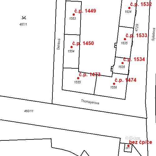Katastrální mapa Stavební objekt Vítkovice 1473, Ostrava