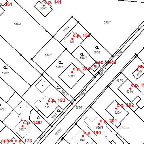 Katastrální mapa Stavební objekt Darkovice 284, Darkovice