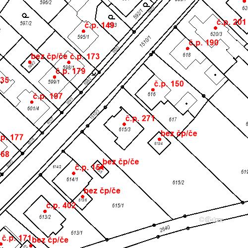 Katastrální mapa Stavební objekt Darkovice 271, Darkovice