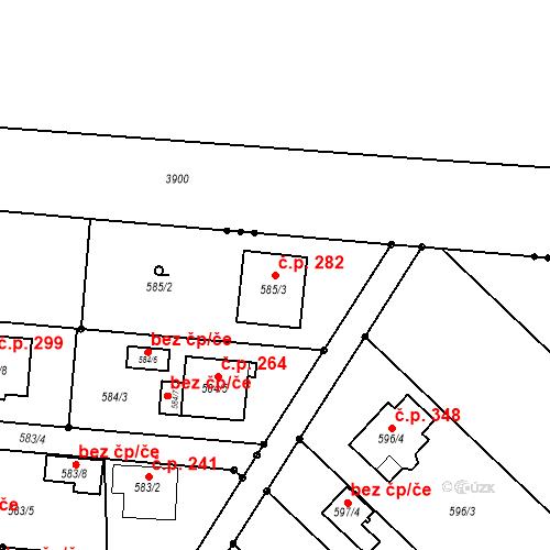 Katastrální mapa Stavební objekt Darkovice 282, Darkovice