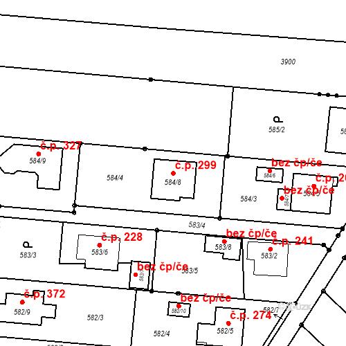 Katastrální mapa Stavební objekt Darkovice 299, Darkovice