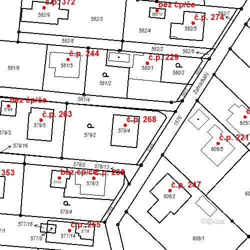 Katastrální mapa Stavební objekt Darkovice 268, Darkovice