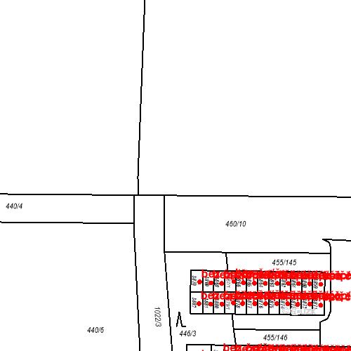 Katastrální mapa Stavební objekt Vítkovice 1174, Ostrava