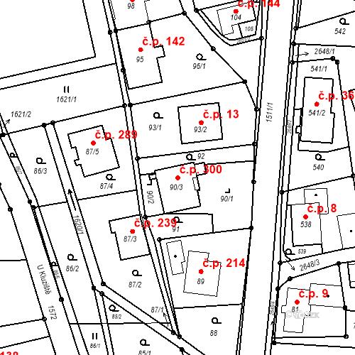 Katastrální mapa Stavební objekt Darkovice 300, Darkovice