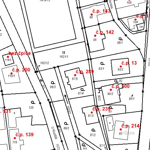 Katastrální mapa Stavební objekt Darkovice 289, Darkovice