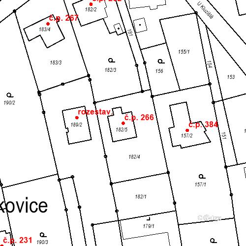 Katastrální mapa Stavební objekt Darkovice 266, Darkovice