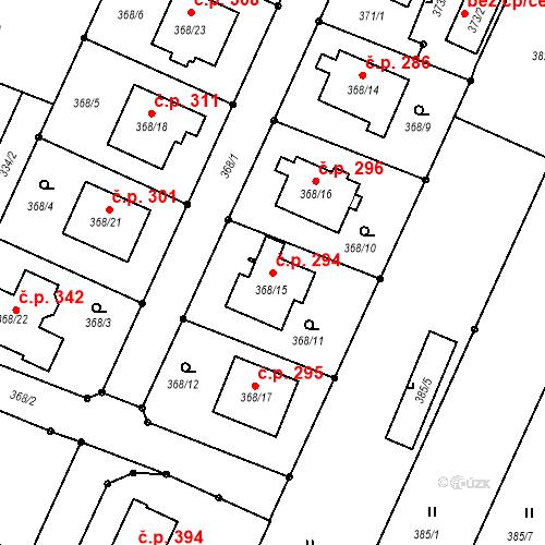 Katastrální mapa Stavební objekt Darkovice 294, Darkovice